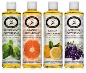 16oz Castile Soap Variety 4 Pack with Lemon