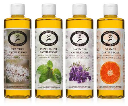 16oz Castile Soap Variety 4 Pack