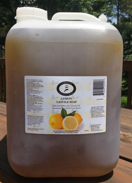 5 Gallon Lemon Castile Soap