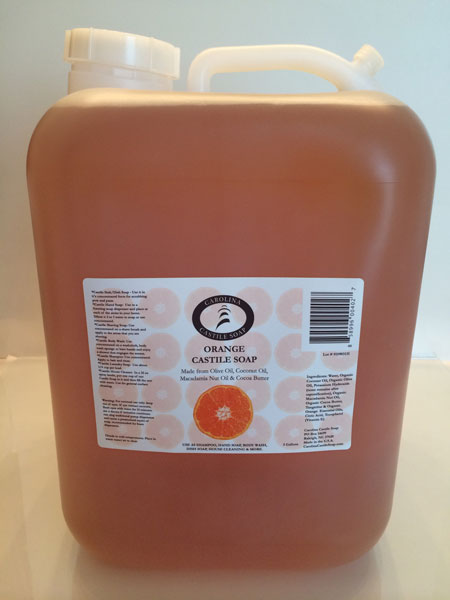 5 Gallon Orange Liquid Castile Soap