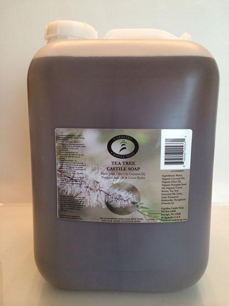 Tea Tree Liquid Castile Soap - 5 Gallon Jug