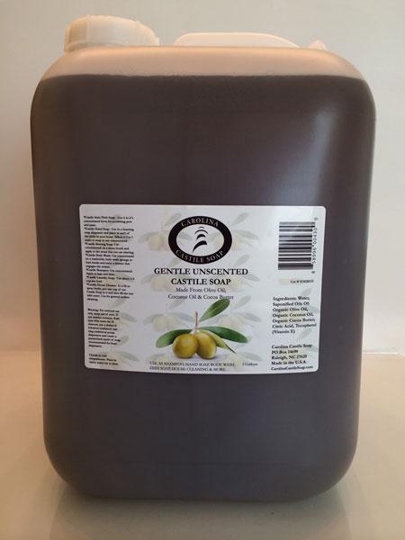 5 Gallon Gentle Unscented Liquid Castile Soap
