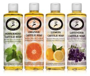 8oz Castile Soap Variety 4 Pack with Lemon