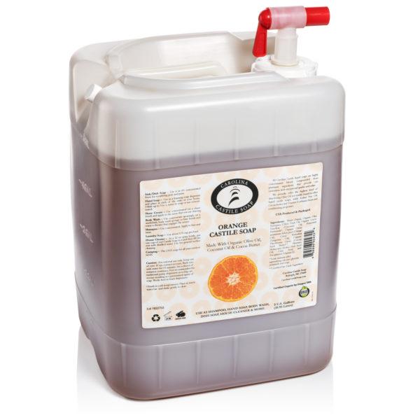 Orange Castile Soap 5 Gallon 858996004324