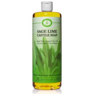 Sage Lime Castile Soap Quart 32 oz